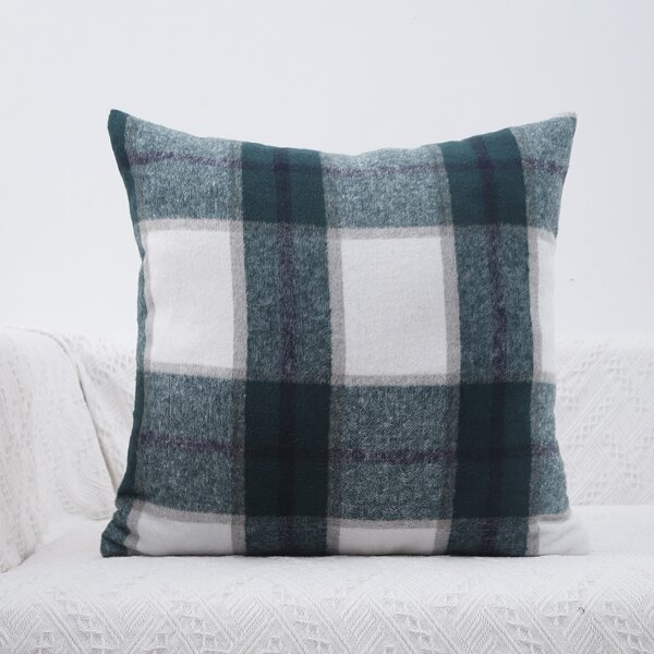 Plaid Print Cushion Cover Without Filler, Multicolor