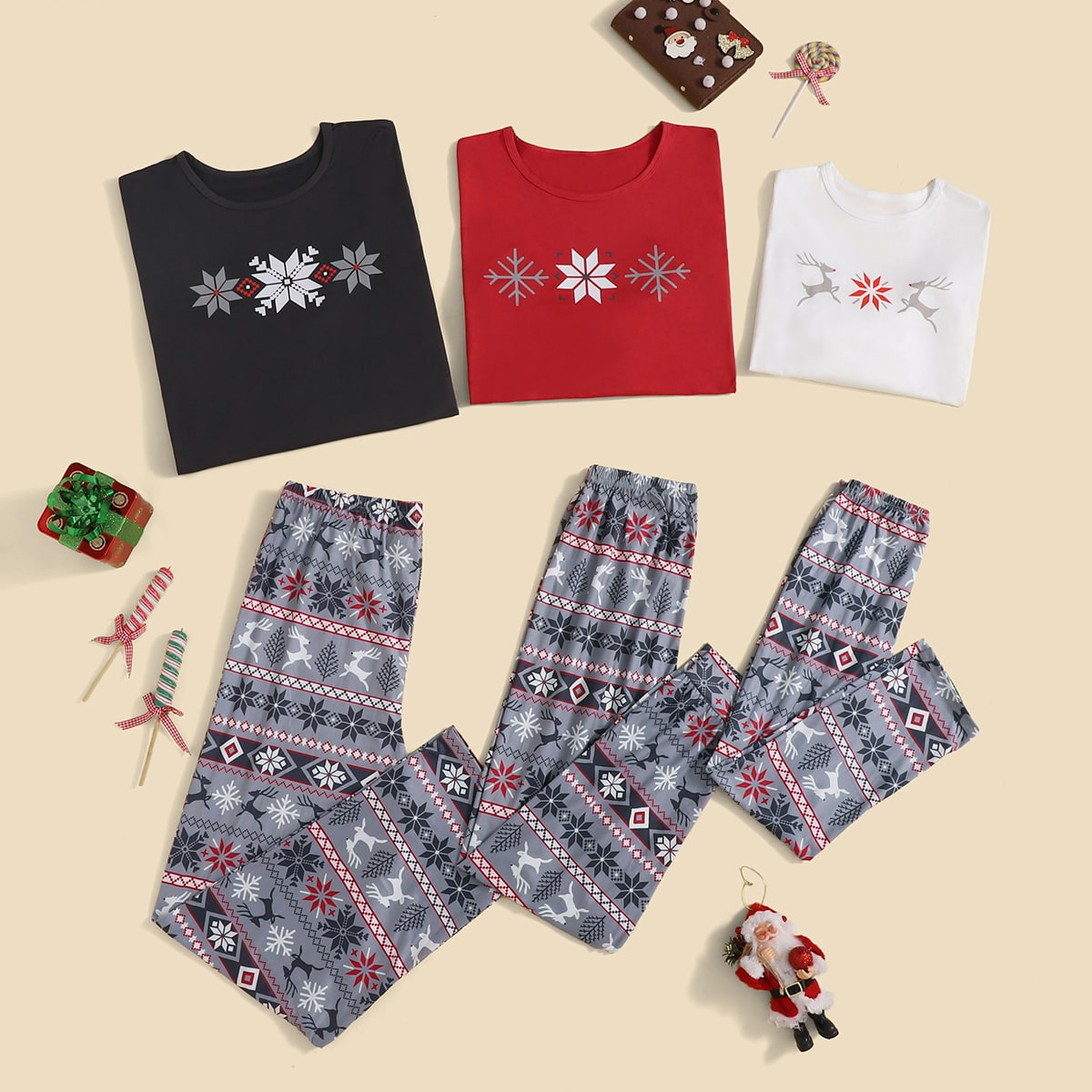 Christmas Geo Print PJ Set