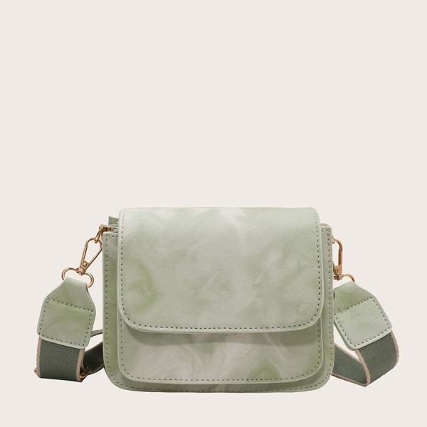 Ombre Flap Crossbody Bag, Green
