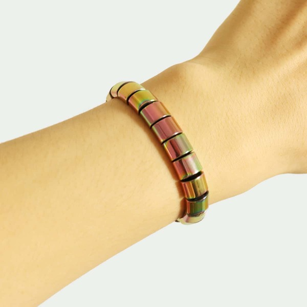 Men Stone Beaded Bracelet, Multicolor