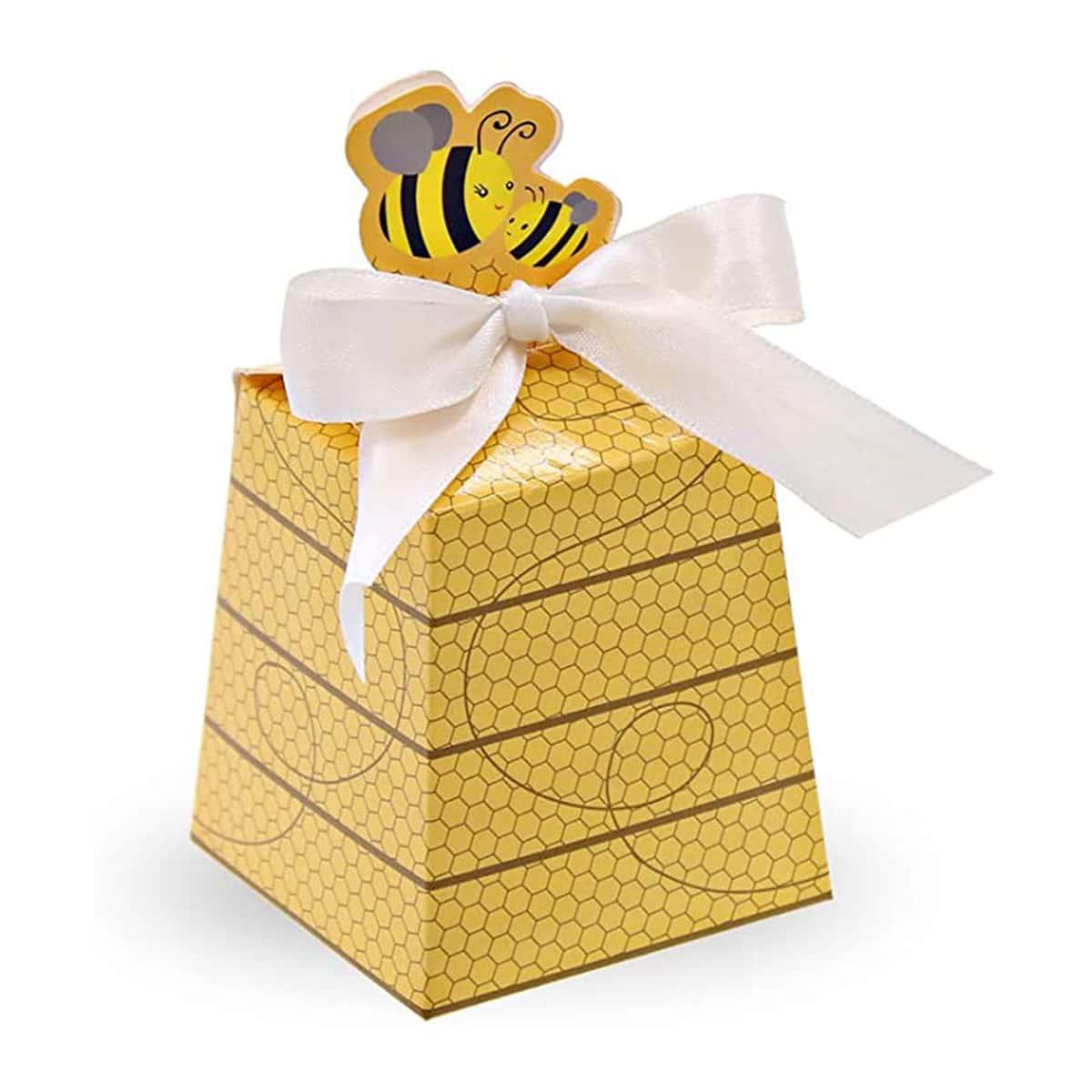 10шт Коробка для конфет с принтом пчелки