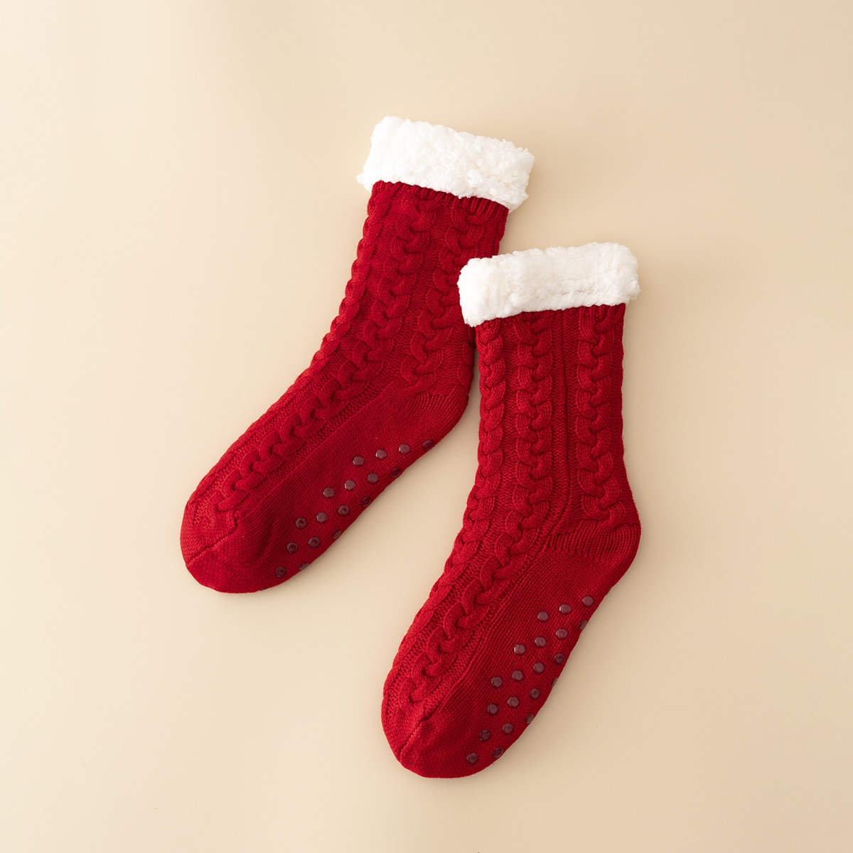 Тёплые вязаные носки