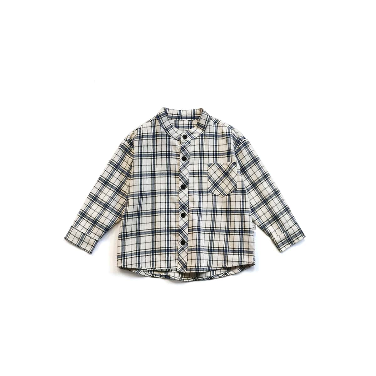 на пуговицах Пуговица Клетка Повседневный Рубашки для мальчиков