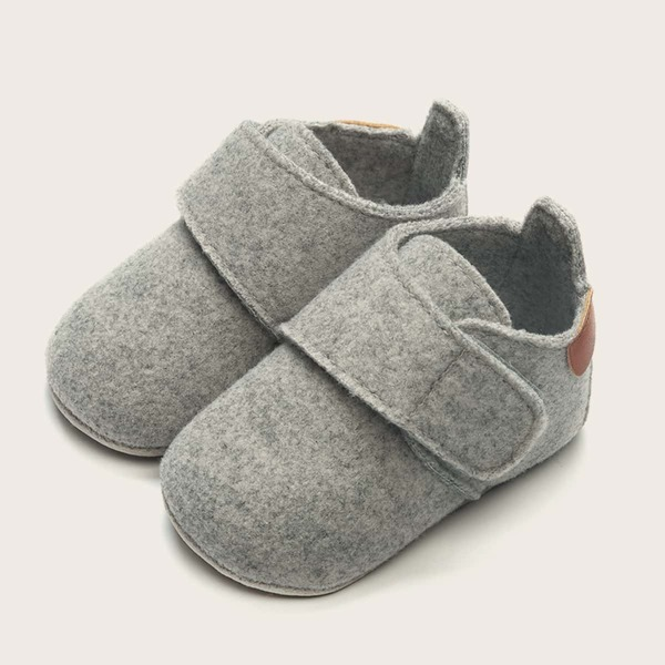 Baby Velcro Strap Boots, Grey