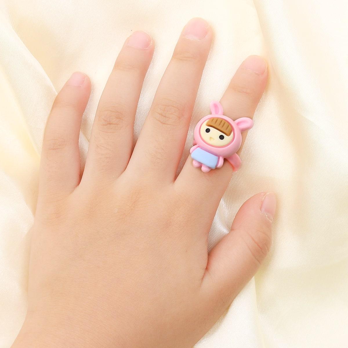 Открытое кольцо в мультипликационной форме для девочек