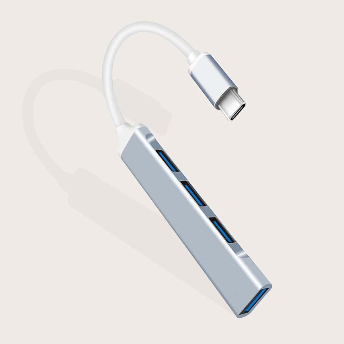 4-портовый адаптер-концентратор Type-C - USB 3.0