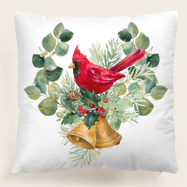 Christmas Bell Cushion Cover Without Filler, Multicolor