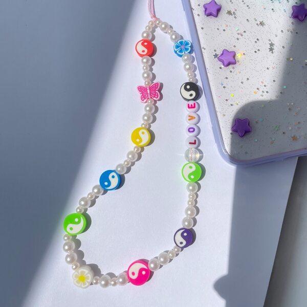 Yin & Yang Beaded Bracelet, Multicolor