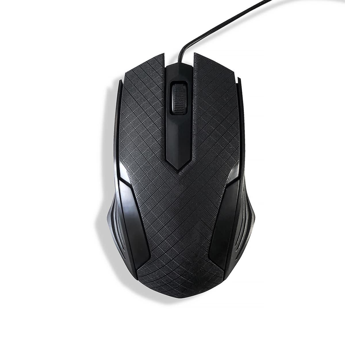 Однотонная проводная мышь