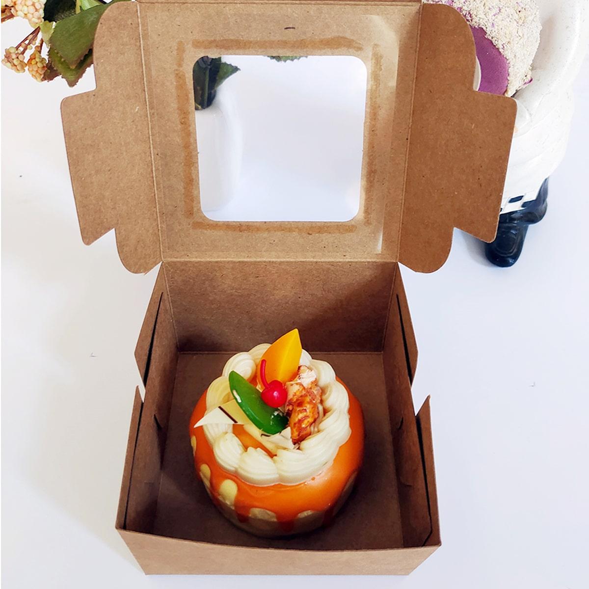5шт Коробка квадратный десерт