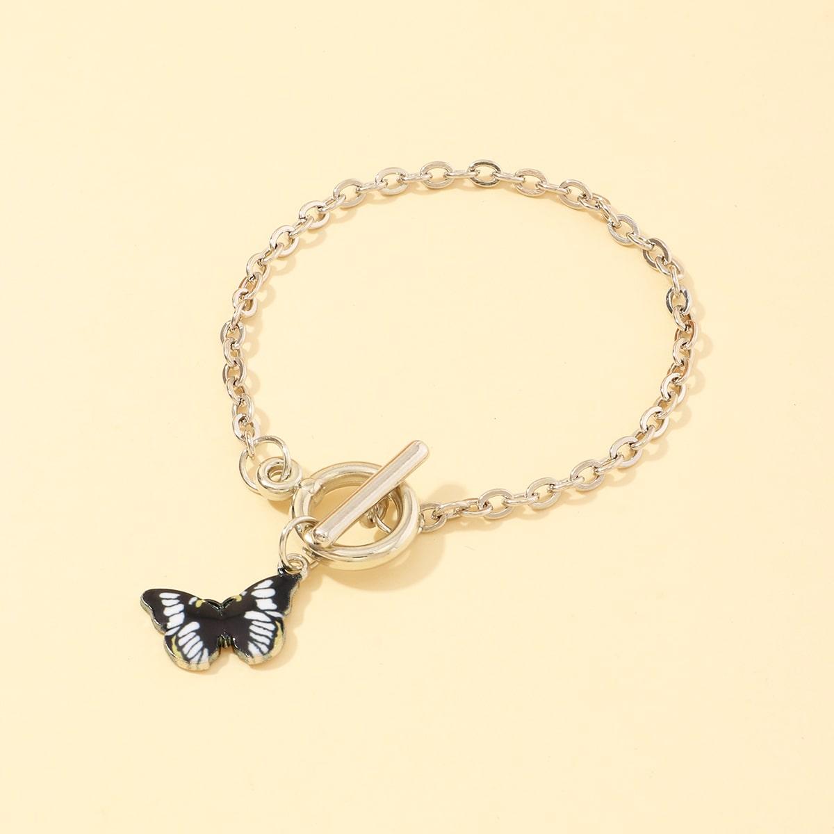 Браслет с бабочками для девочек