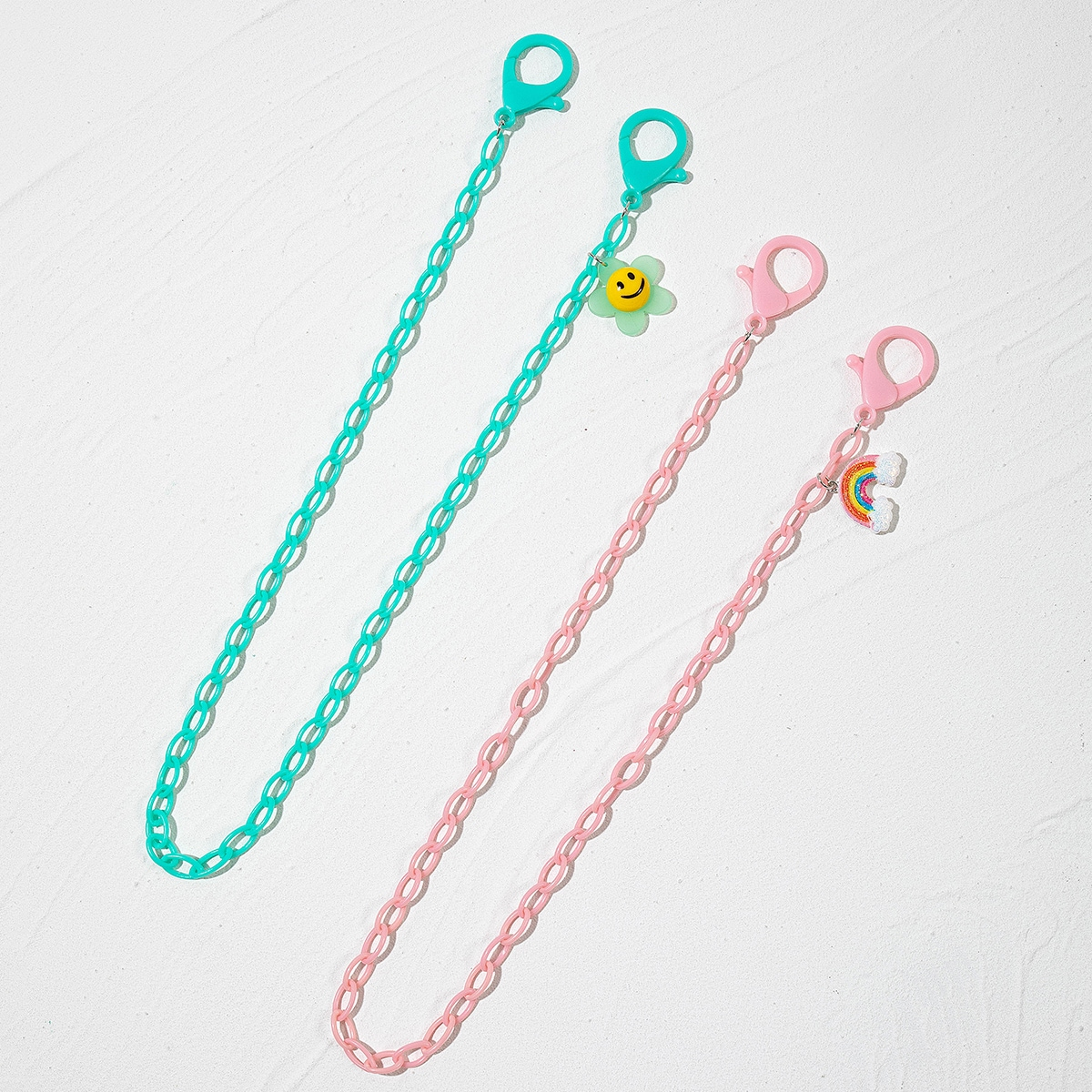 2pcs Solid Face Mask Chain