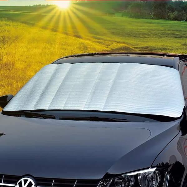 Universal Automobile Sunshade Cover, Silver