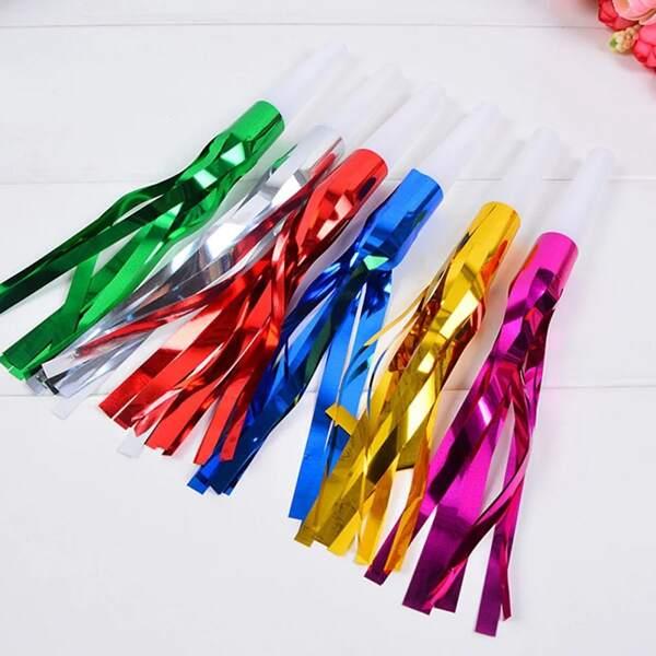 6pcs Party Tassel Whistle, Multicolor