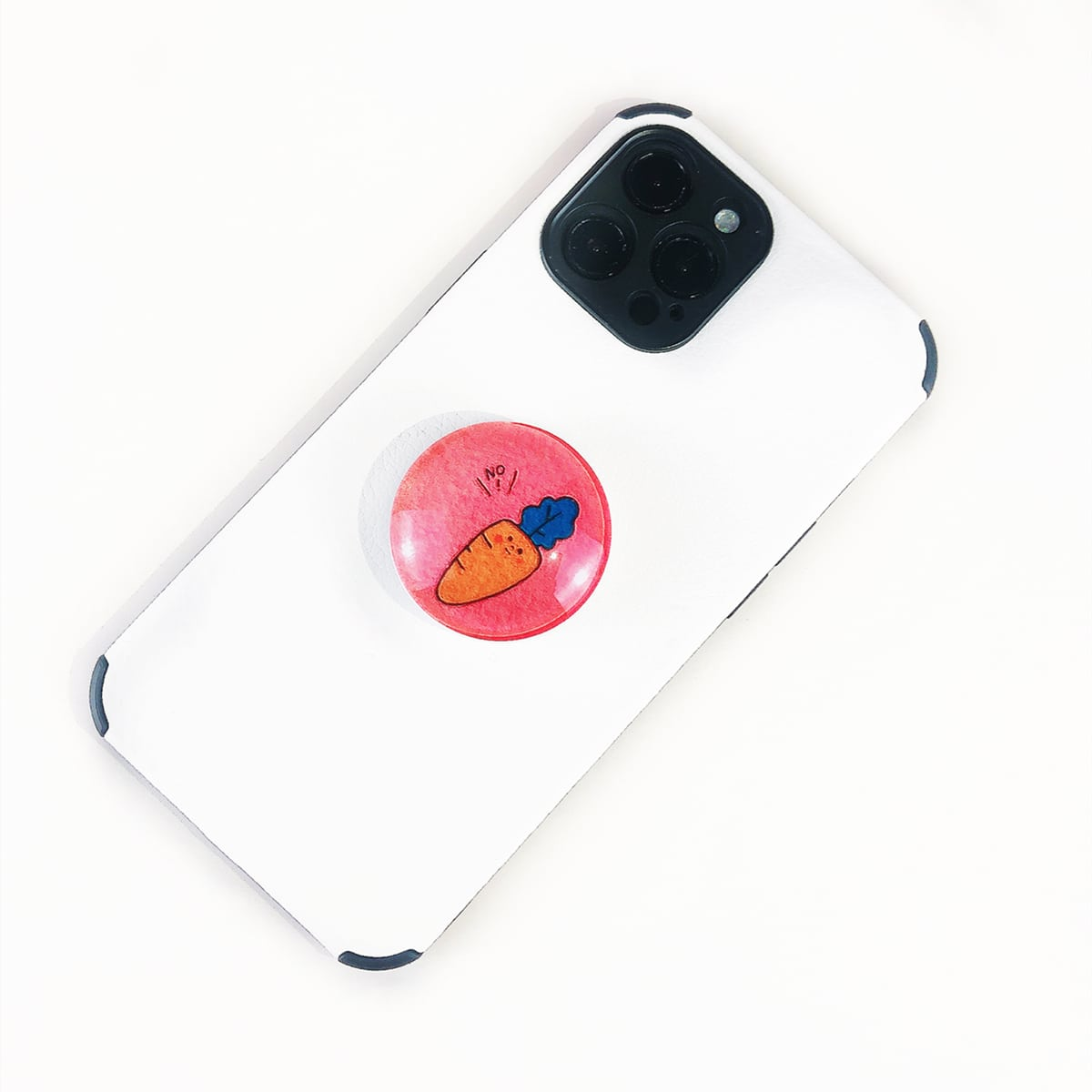 Carrot Pattern Stand-Out Phone Grip