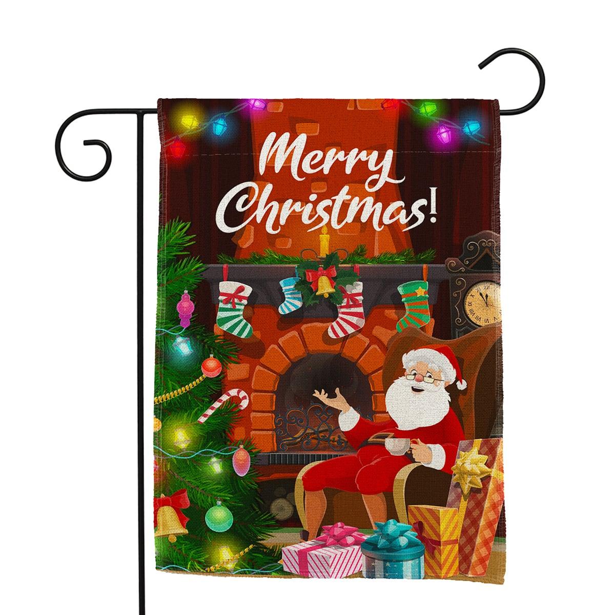 1 pieza Bandera Navidad patrón