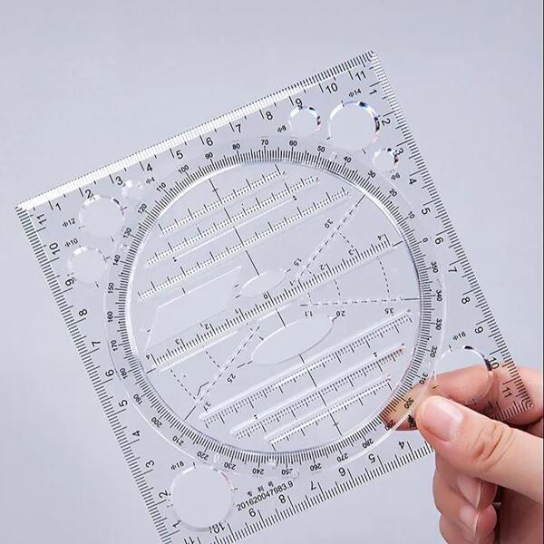 1pc Multifunction Clear Ruler