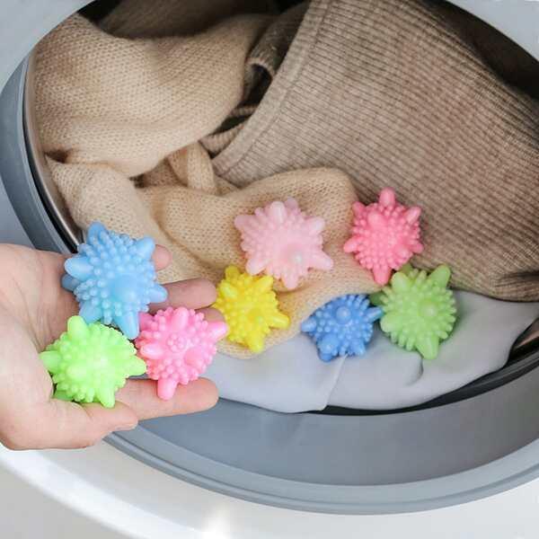 8pcs Random Color Laundry Ball, Multicolor