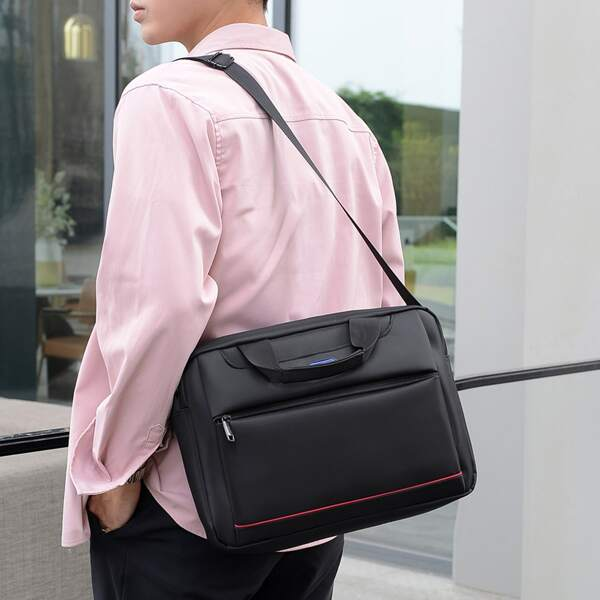 Men Minimalist Water-Proof Briefcase, Black