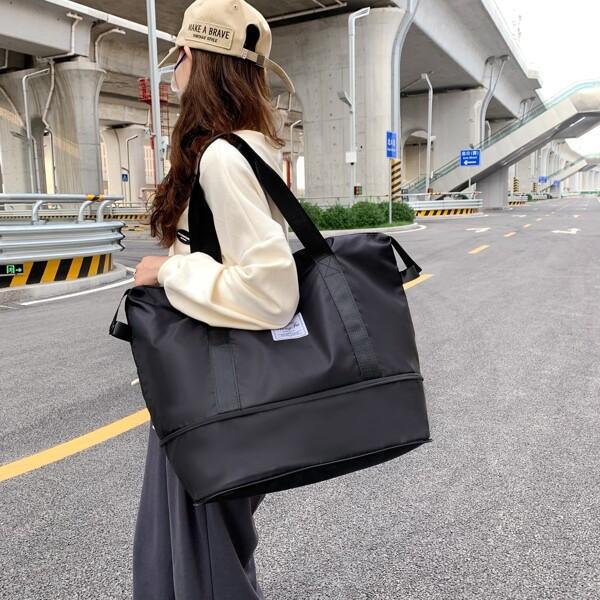 Minimalist Water-Proof Duffle Bag, Black