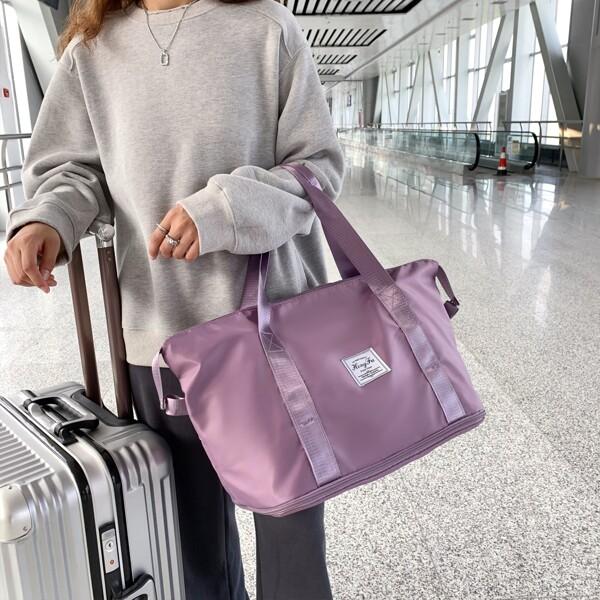 Minimalist Water-Proof Duffle Bag, Purple