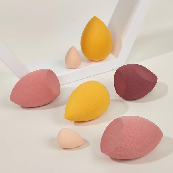 7pcs Random Color Makeup Sponge Set, Multicolor