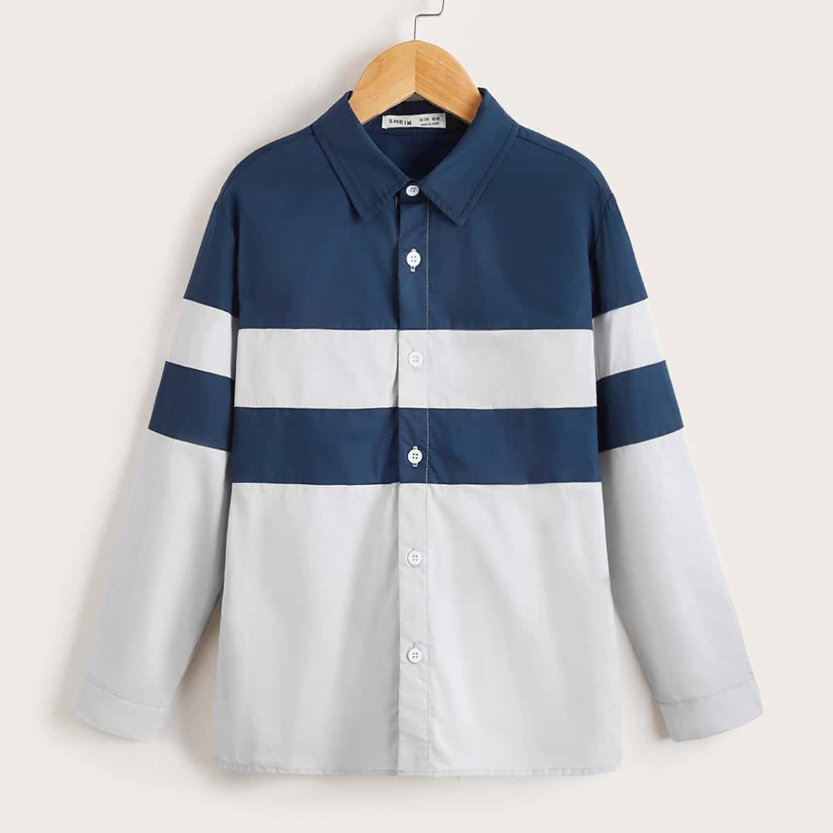 для мальчиков Рубашка контрастный