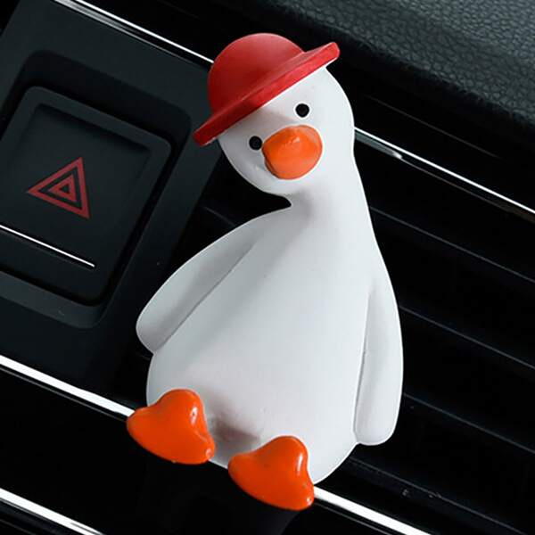 Cartoon Duck Design Car Air Outlet Decoration, White