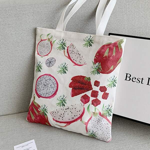 Pitaya Graphic Shopper Bag, Multicolor