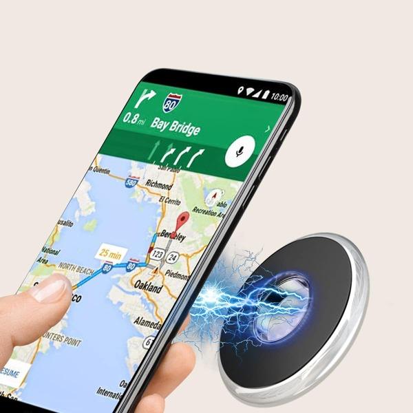Magnetic Car Phone Holder, Silver