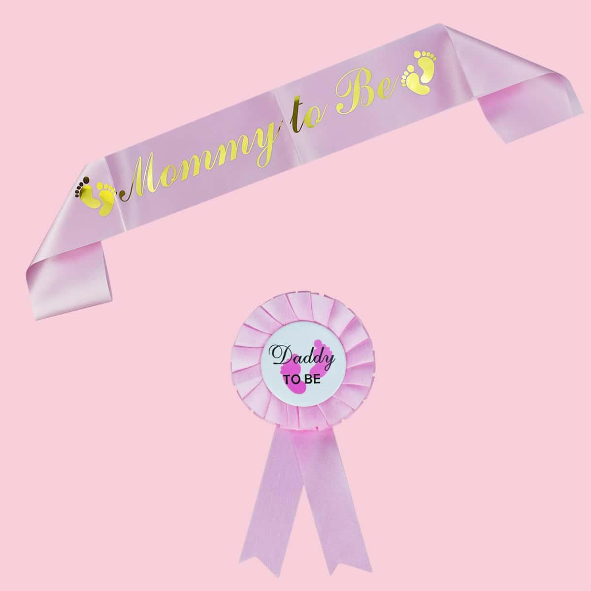 2шт Кушак & медаль для вечеринки бейби шауэр