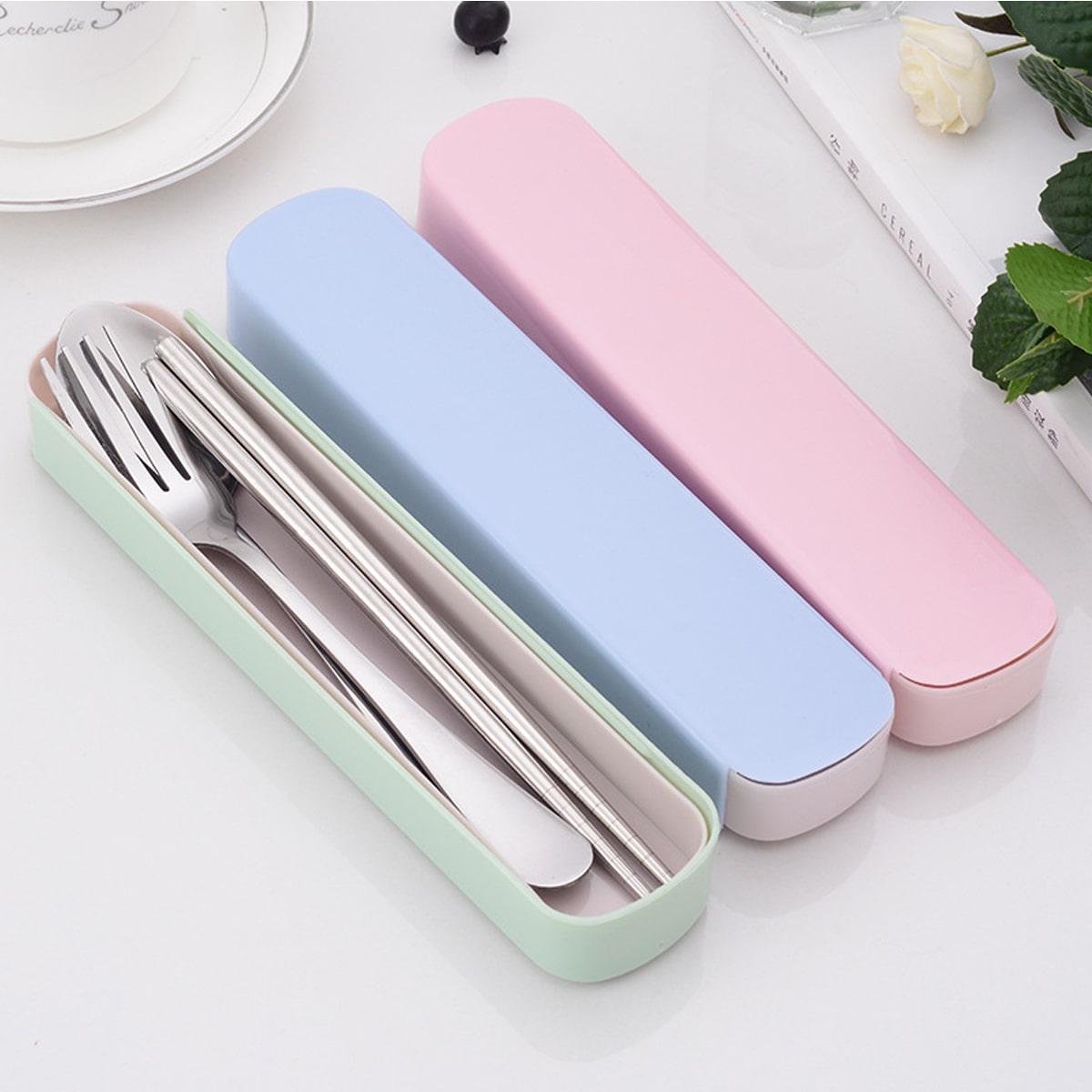 4pcs Random Color Stainless Steel Cutlery Set