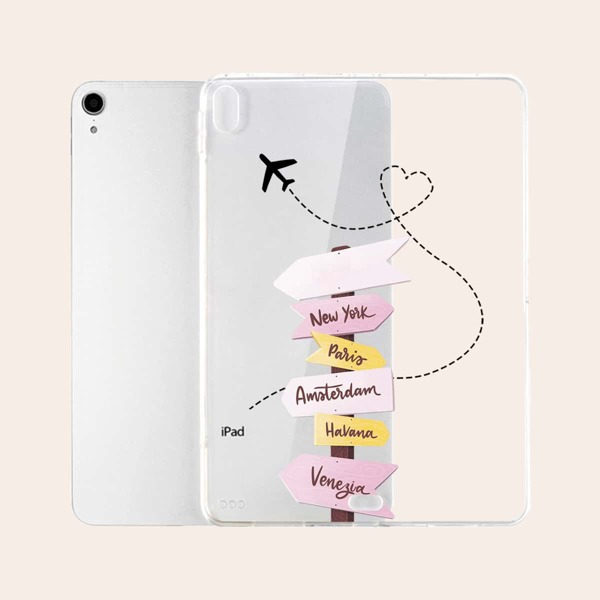 Letter Graphic Case For iPad, Clear