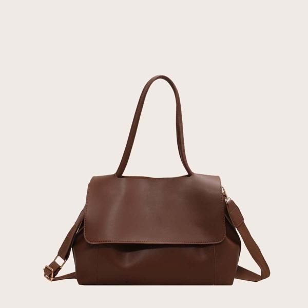 Minimalist Shoulder Bag, Brown