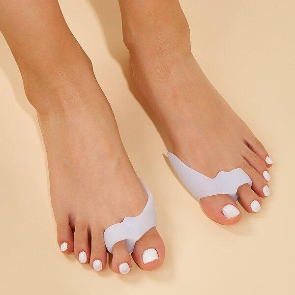2pcs Thumb Valgus Correction Two Toe Separator, White