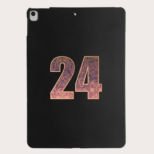 Number Graphic Case For iPad, Black
