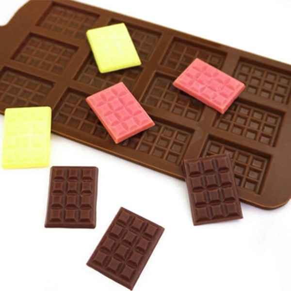 1pc 12 Grid Chocolate Mold, Chocolate brown