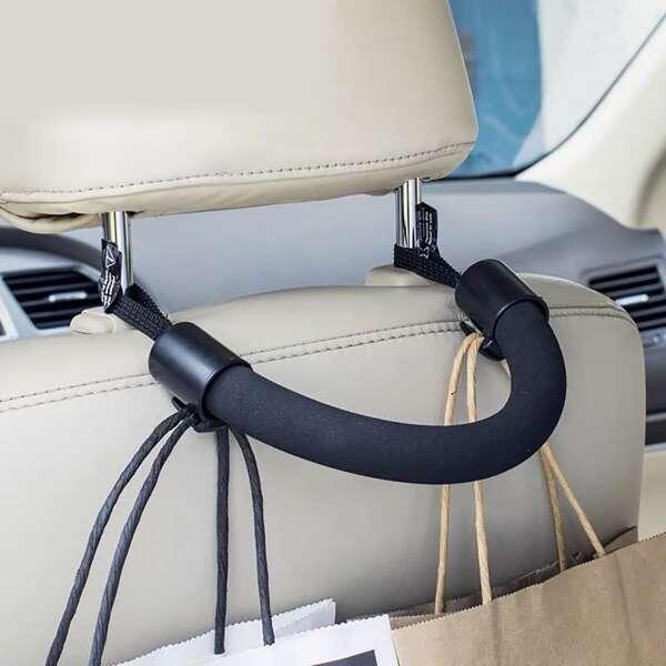 1pc Car Seat Back Handle, Black