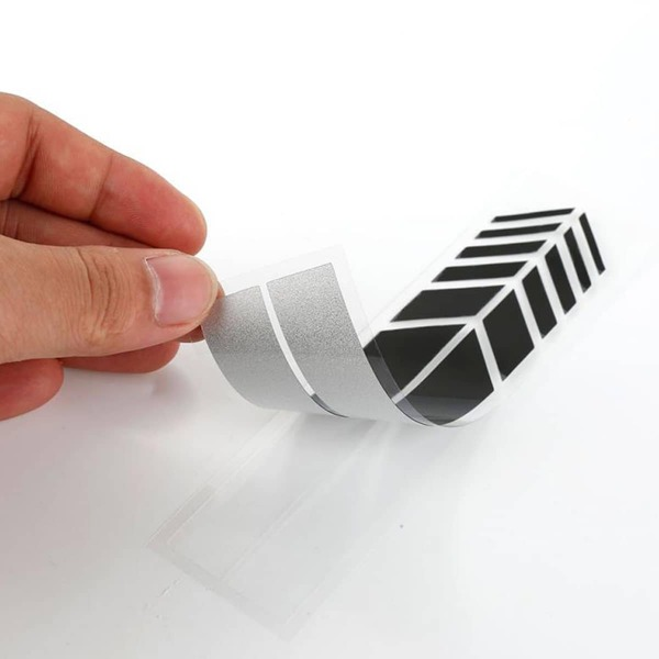 2pcs Stripe Rearview Mirror Sticker, Black