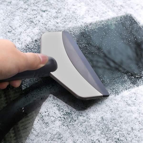 Simple Ice Scraper For Car, Silver
