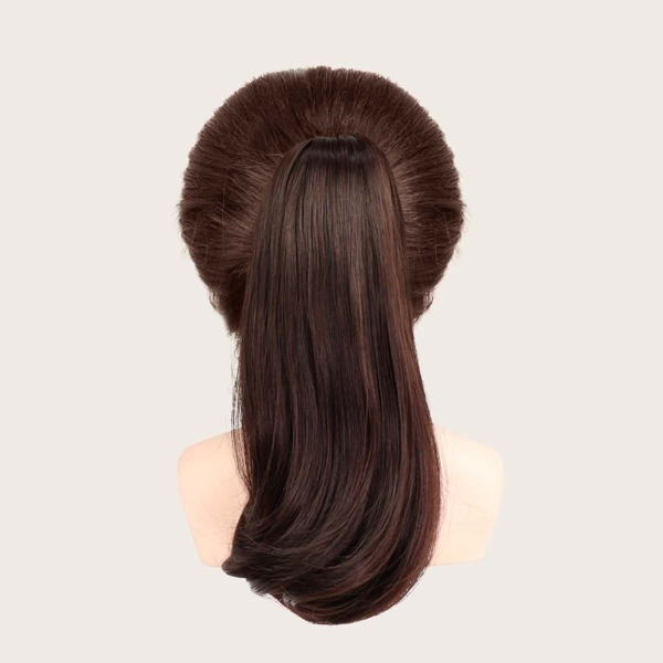 Long Curly Ponytail Hair Extension, Brown