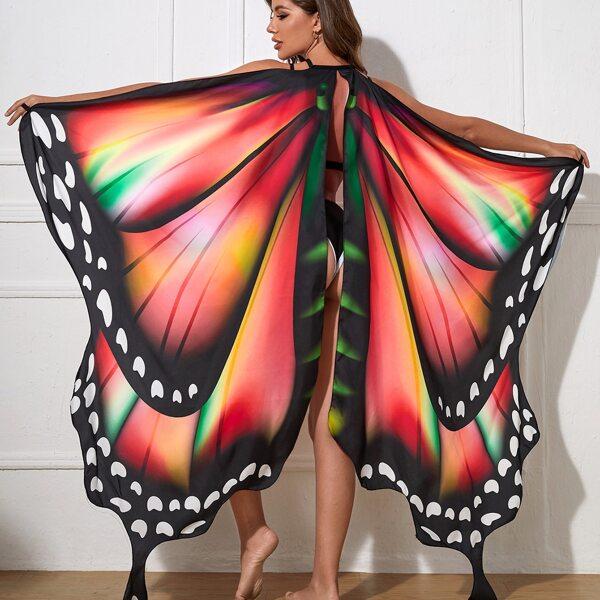 Butterfly Costume Cape, Multicolor