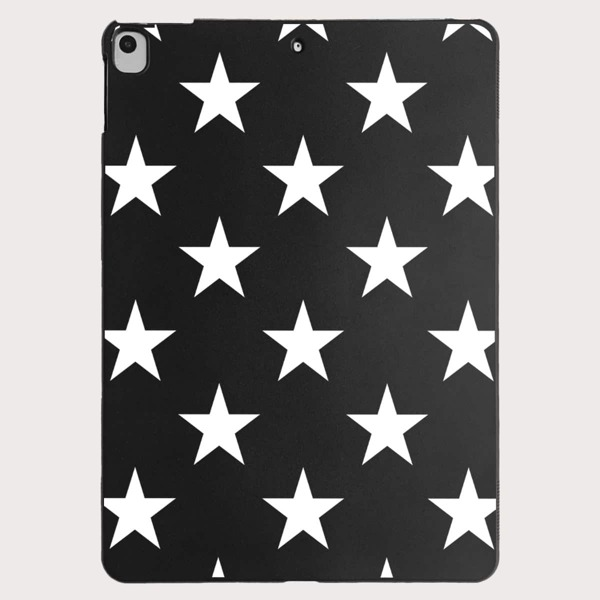 Star Pattern Case For iPad, Black and white