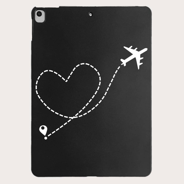 Heart Pattern Case For iPad, Black and white