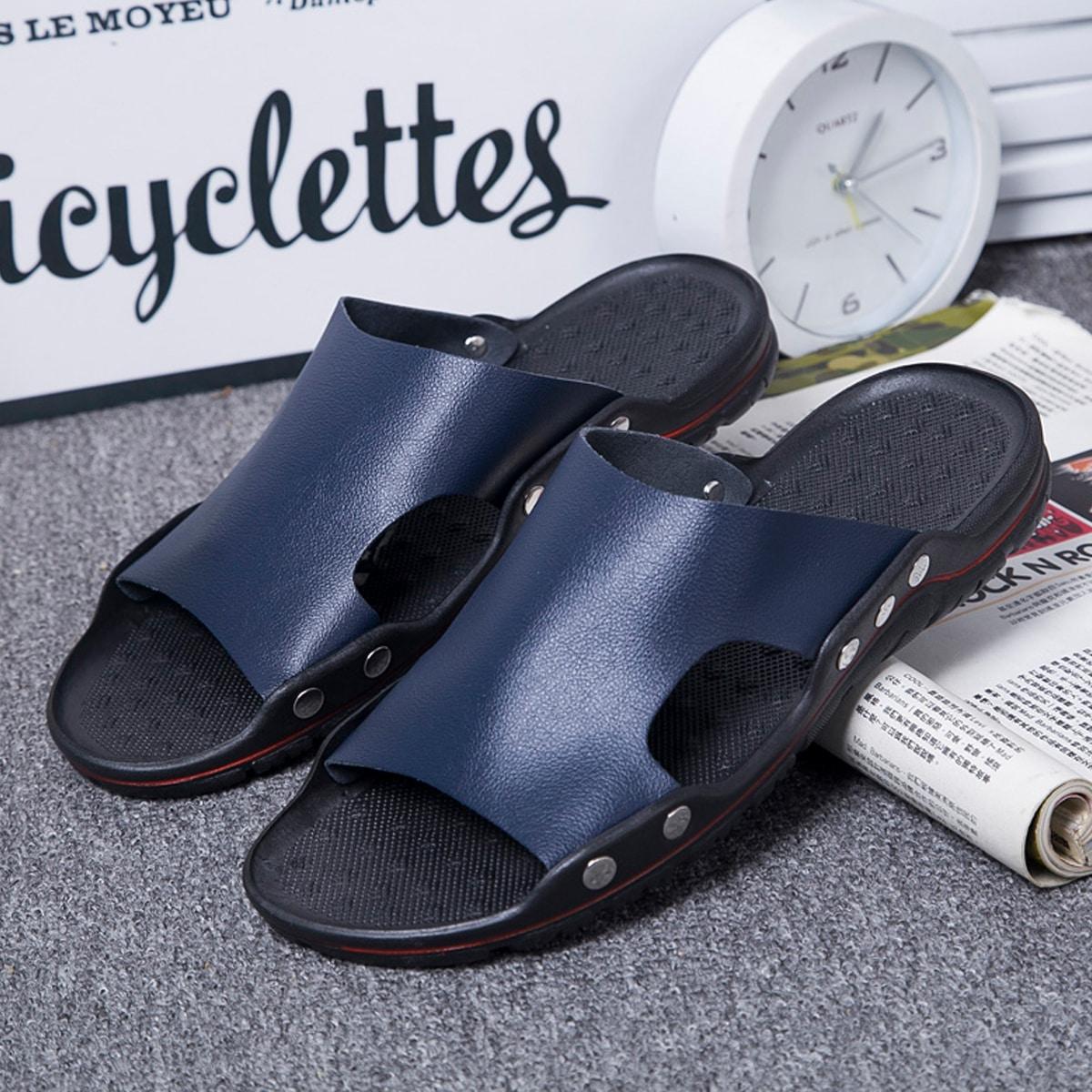 Men Minimalist Wide Fit Slides