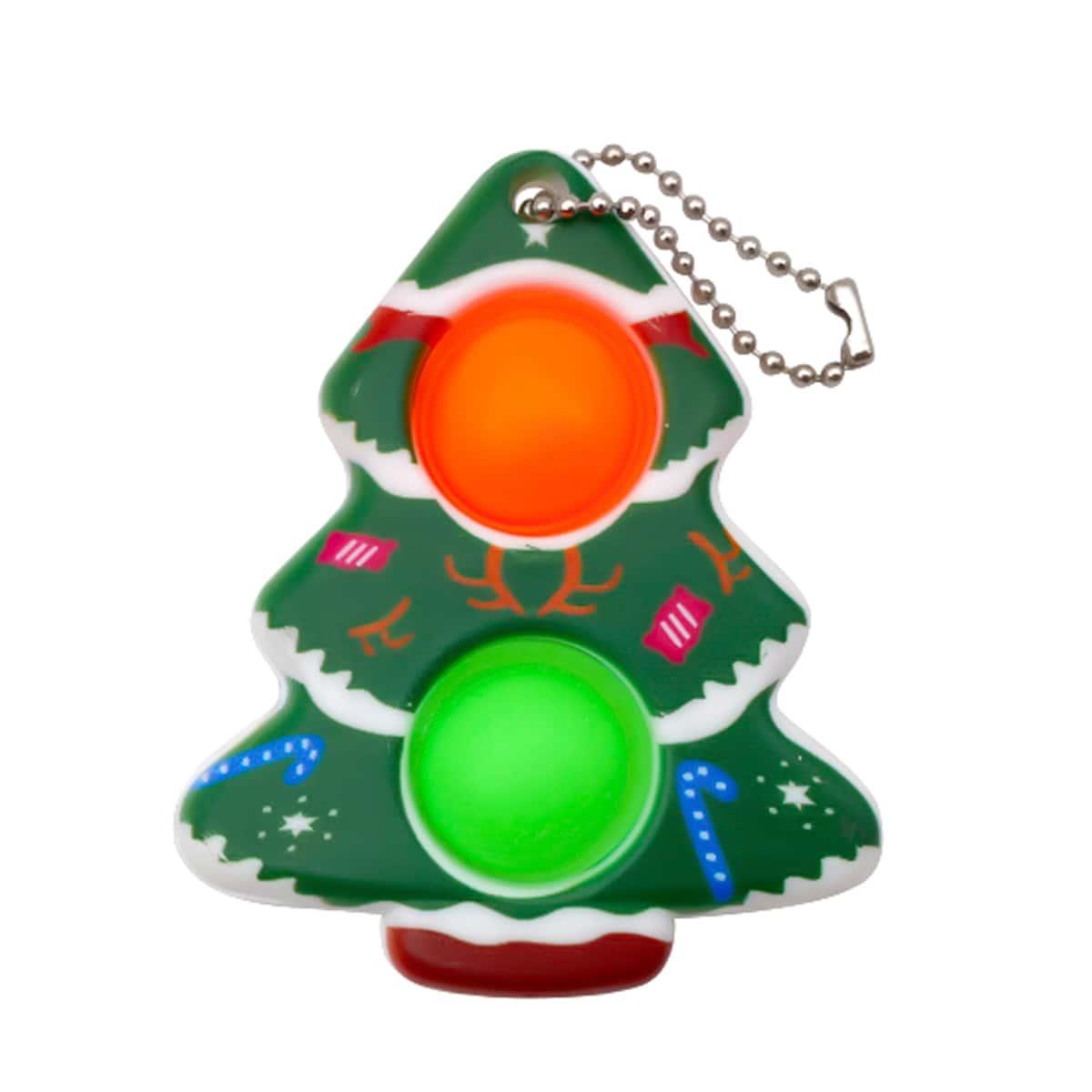 1pc Random Christmas Tree Shaped Push Pop Bubble