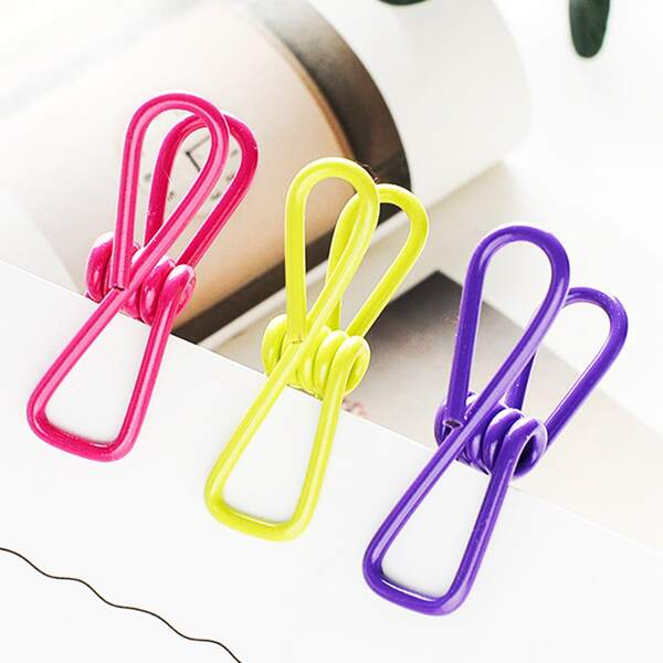 10pcs Random Color Clothespin, Multicolor