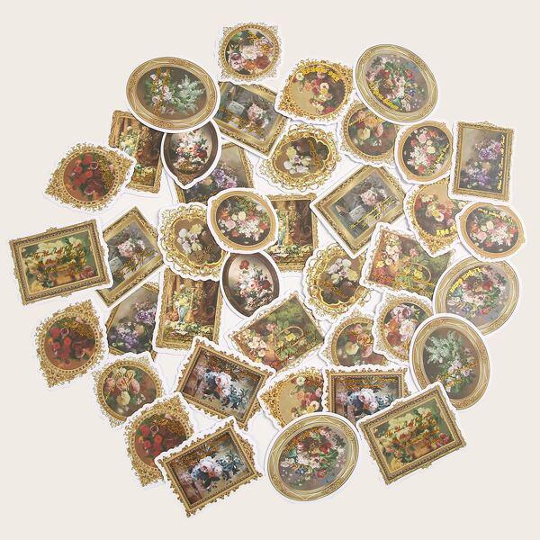 45pcs Floral Pattern Sticker, Multicolor