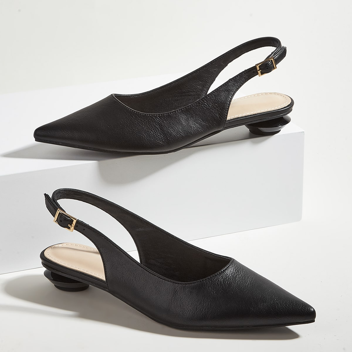 Обувь минималистичный Остроконечные с открытой пяткой