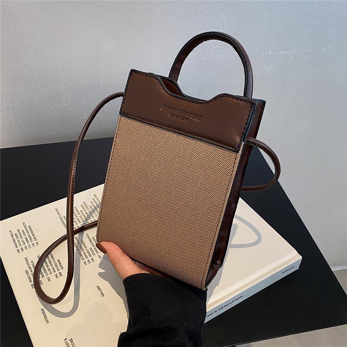 Квадратная сумка Контрастный с буквой